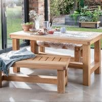 Stannington Solid Oak Table And Benches | Handcrafted UK